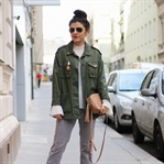 Sling Backs, Military Style Jacket