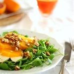 Wintersalat mit Postelein, Mozzarella und Orangen