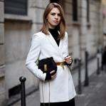 Blazer w/ Vintage Moschino Belt & Volant Skirt