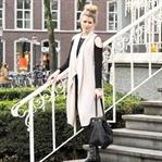 Casual Look mit Cold-Shoulder Oberteil, Weste, Led