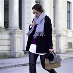 EVERYTHING BLACK: LEATHER PANTS, BOOTS & BLAZER