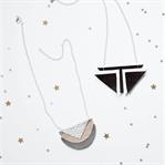 Geometrische Kette aus Leder selbermachen | DIY
