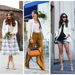 İlkbaharda Kullanabileceğiniz Beyaz Blazer Ceket