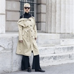 Off the shoulders trench coat