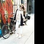 Outfit: Neutrale Töne, Fake Fur, Stan Smith