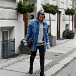[OUTFIT] Oversized Sweater & Jeansjacke