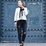 Outfit: Zara Blazer, Ripped Jeans & Chanel Schmuck