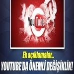 YouTube'da Önemli Değişiklikler Oluyor