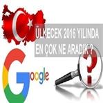 2016'Da Google'Da Ne Aradık!