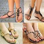Ayakkabı Sandalet Modelleri İki Keyfi Bir Arada