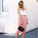 Blush Baby - Lace Pencil Skirt & White Cami