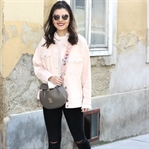 Blush Pink Denim Jacket
