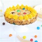 Cookie Torte mit Erdnuss M&Ms und Buttercreme