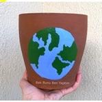 DIY: Saksı Boyama 🌍(Dünya Çizdim)🌍