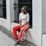 Hosen mit Seitenstreifen || Trend: Trackpants