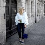 Outfit - Matcha Latte und Volant Pulli