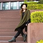 Outfit | Poncho mit Hut für den Boho-Style