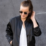 SATIN BOMBER & BOW KNOT MULES