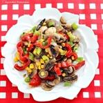 Sebzeli Mantar Salatası