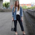 Striped pants and vintage denim