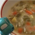 Yoğurtlu Pazı Sapı Çorbası