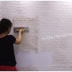 Alçı ile Tuğla Görünümlü Dekoratif Duvar Yapılışı