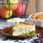 Apfel Zwiebel Quiche mit Bärlauch