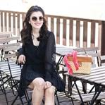 Basket Bag, Black Boho Dress & Prada Sunglasses