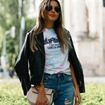 MNG LEATHER JACKET, ASOS TOP & GUCCI SNEAKERS