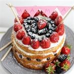 Naked Cake Erdbeertorte nicht nur zum Muttertag