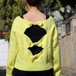 Neon Sarı Sweatshirt