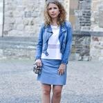 Outfit: Frühlingskombi Weiß und Hellblau