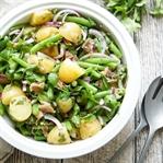 Bohnensalat mit Kartoffeln und Parmaschinken