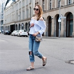 Casual Attire - Gestreifte Bluse & Boyfriend Jeans