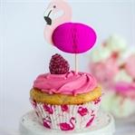 Flamingo Cupcakes: Vanille Cupcakes mit Himbeer Bu
