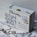 Holz-Tasche mit Postkartenmotiv
