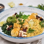 Indische Curry Reis Bowl