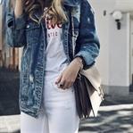 Jeansjacke stylen im Sommer