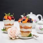 Joghurt Marillen Trifle im Glas