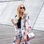 Kimono mit Blumenmuster - Sommer Outfit