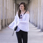 Off-Shoulder Bluse mit Bell Sleeves