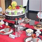 Partydeko für Rennfahrer-Geburtstag