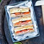 Schnittlauch-Omlette-Sandwich