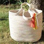 Sommertasche aus Seilen – Rope Tote Bag
