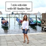 Weiße Off-Shoulder Bluse in Venedig