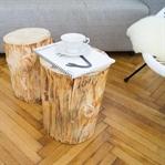 Wie mache ich DIY Baumstamm Couchtische