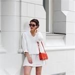 All White and Orange Bag
