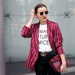 Berlin Fashion Week Outfit #1 Streifenblazer