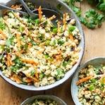 Hirsesalat mit Kichererbsen auf marokkanische Art