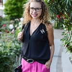 Outfit: Pink Pants and Designer Pieces
